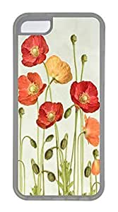 iPhone 5C Case, Customized Protective Soft TPU Clear Case for iphone 5C - Flower Photo Cover