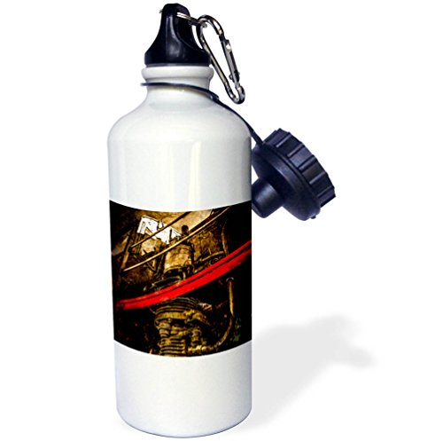 raphy - Transport Railroad - Air pump of the vintage steam locomotive. Stylized photo - 21 oz Sports Water Bottle (wb_270615_1) ()