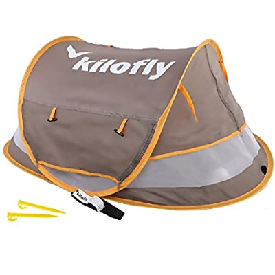 kilofly Baby Toddler (Large) Instant Pop Up UPF 35+ Travel Beach Tent + 2 Pegs