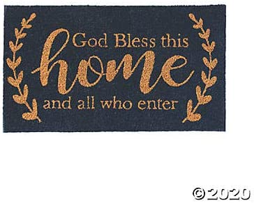 God Bless This Home Coir Door Mat – Outdoor Home Decor