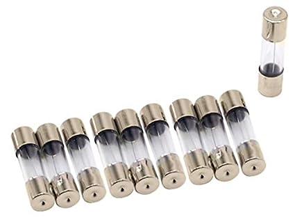 0,1A Glas Lot de 10 fusibles en verre Flink 5 x 20//6 x 30 mm 0,1 A-30 A 250 V 5x20mm
