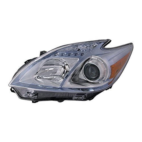 Headlights Depot Replacement for DRIVER SIDE FRONT HEADLIGHT Toyota Prius HL LH ()