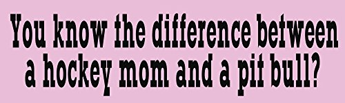 (BuildASign Hockey Mom and a Pit Bull Sarah Palin Bumper Magnets)