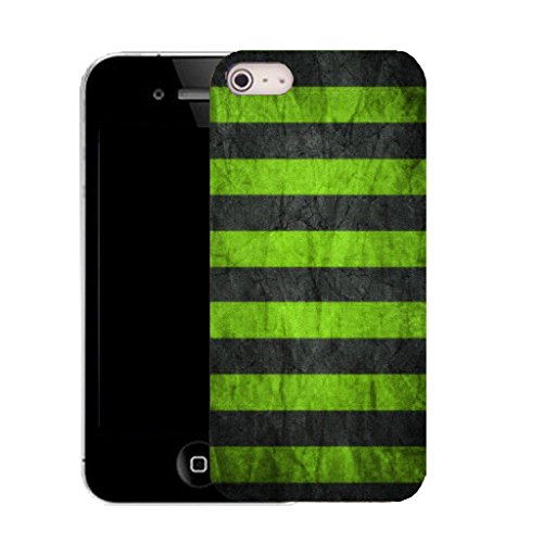 Mobile Case Mate IPhone 4 4S clip on Dur Coque couverture case cover avec Stylet - green groove Motif