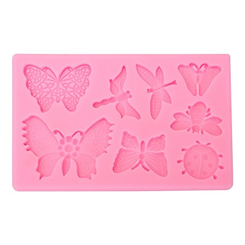 Butterfly Dragonfly Insects Silicone Mold Fondant Cake Mould Baking Tool by Gods Kingdom