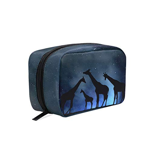 Makeup Bag Starry Night Giraffes Cosmetic Pouch Clutch