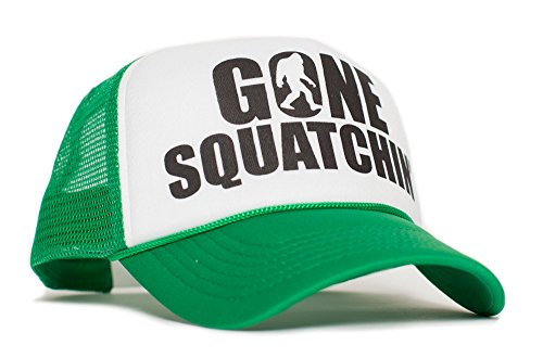 Gone Squatchin' Unisex-Adult Trucker Hat -One-Size Green/White]()