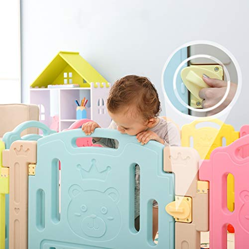 LIUFS-Fence Children's Play Fence Indoor Home Safety Crawling Mat Game Activity Center (Size : 18 Small Pieces) by LIUFS-Fence (Image #1)