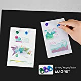 Board2by Magnetic Chalkboard Paper for Wall, 38.9 x 18 Self Adhesive Chalk Board Wallpaper, Blackboard Paper with 46 Magnetic Letters for Kids, Black