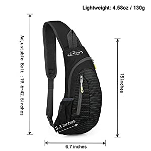 G4Free Sling Bags Shoulder Backpacks Chest Triangle Pack Rucksack Small Crossbody Lightweight Multipurpose Daypacks for Adults or Children