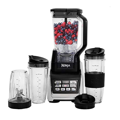 Nutri Ninja Personal and Countertop Blender with 1200-Watt Auto-iQ Base, 72-Ounce Pitcher, and 18, 24, and 32-Ounce Cups with Spout Lids - Blender Ninja Professional