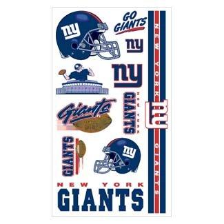 (New York Giants Temporary Tattoos)