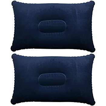 Amazon Com Trixes Navy Blue Inflatable Camping Pillow