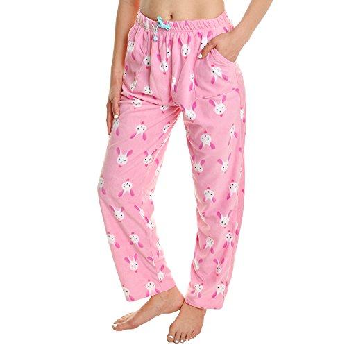 Bunny Pajamas For Women (Angelina Cozy Pajama Pants with Pockets,)