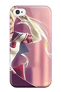 Iphone 4/4s Case Bumper Tpu Skin Cover For Sailor Moon Digital Art Artwork Fan Art Girl Anime Accessories