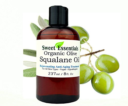 100% Pure Organic Squalane Oil - 8oz With Pump - Imported From Italy - Olive Derived - Vegan - Anti Aging - Skin Regenerating  - Non Greasy - Doesnt Feel Like The Traditional Oil