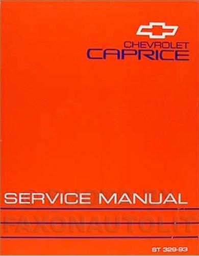 1993 Chevy Caprice Classic Repair Shop Manual Original