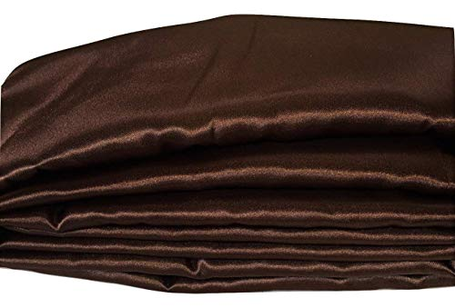 (Cord Cover Chocolate Brown Satin Fabric Handmade 100 Sizes to Choose From)