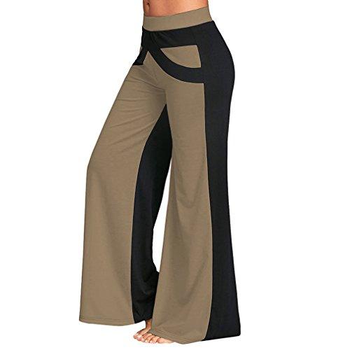 Pantaloni con Albicocca bassa larghi da Pantaloni larga e per larghi gamba a yoga donna Juleya gamba a vita pantaloni larga XqvBHv