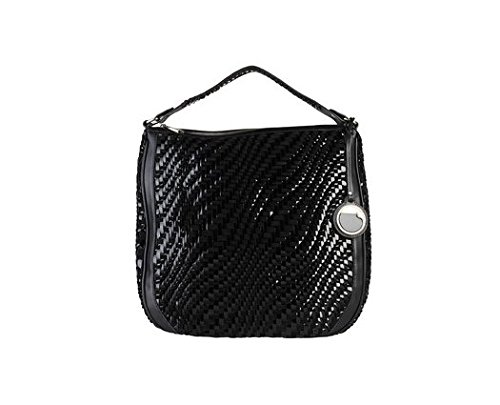 Cavalli Class Black Shopping Bag With One Handle
