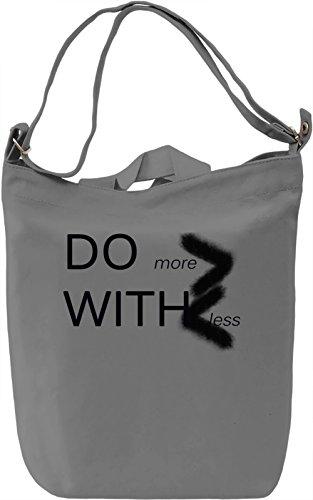 Do More Borsa Giornaliera Canvas Canvas Day Bag| 100% Premium Cotton Canvas| DTG Printing|