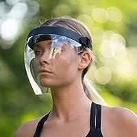 Yuui Transparant gezichtsmasker, anti-condens, winddicht, stofbestendig, anti-uv, duurzaam plastic, herbruikbare glazen…