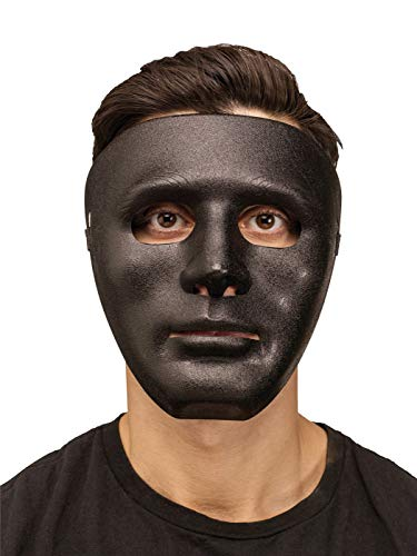 Fun World Unisex-Adult's Men Creepy Blank Full Face Mask, Black -