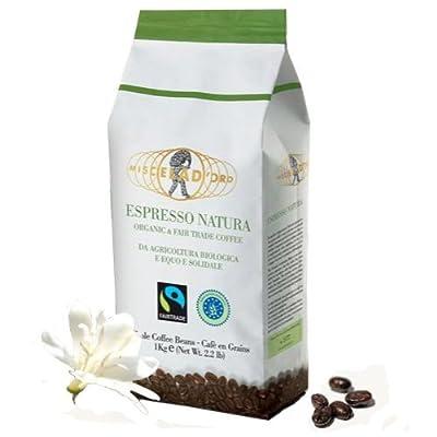 Organic Fairtrade Miscela D'oro Natura Organic Espresso Beans [2.2 Lb]