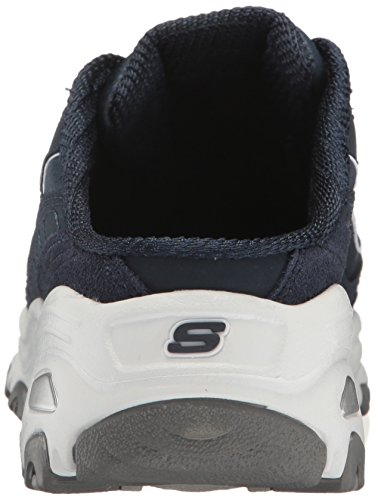 Skechers Sport Womens DLites Slip-On Mule Sneaker Navy/White