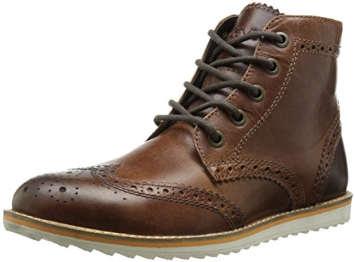Crevo Men's Boardwalk Wing Tip Boot, Brown Leather, 11 M US by Crevo