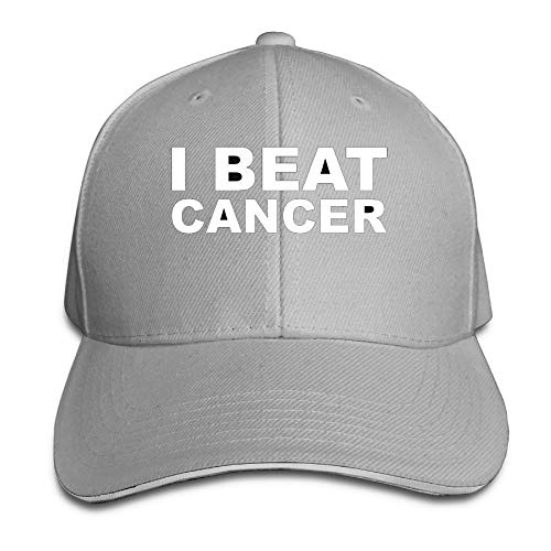 JimHappy I Beat Cancer Novel Trucker Cap Durable Baseball Cap Hats Adjustable Peaked Sandwich Cap -