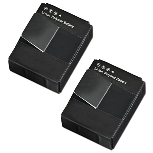 2 High Capacity Batteries Replacement of GoPro AHDBT-201, AH