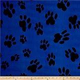 Newcastle Fabrics Polar Fleece Big Paw Blue Fabric By The Yard