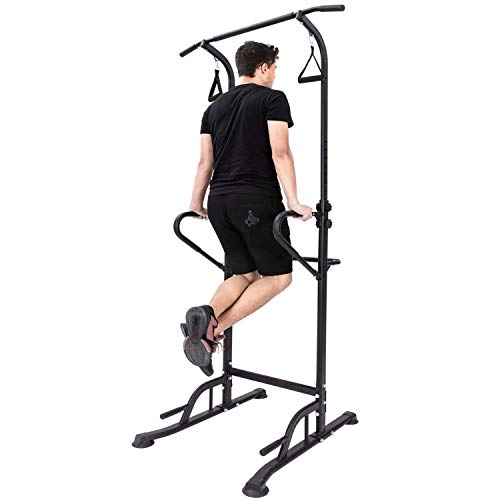 LIANXIN Power Tower – Home Gym Strength Training Adjustable Multi-Function Fitness Equipment Stand Workout Station