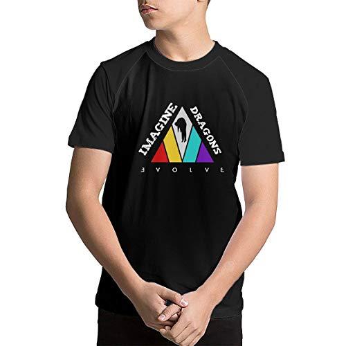Baseball Tee T-Shirts for Kids Youth - Imagine-The Dragons-Evolve Black