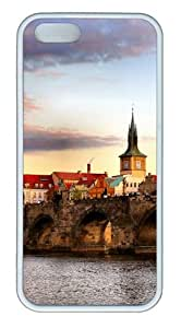 Apple iPhone 5S Cases - Bridge Landscape TPU Case Cover for iPhone 5S and iPhone 5 - White