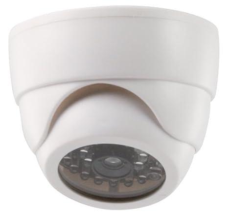 König SEC-DUMMYCAM60 - Cámara simulada de vigilancia (en domo, IR, LED), blanco: Amazon.es: Electrónica