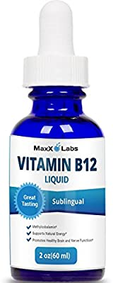 Vitamin B12 Liquid ? Vegan Vitamin B12 Sublingual Drops ? Best B for Adults or Kids to Instantly Boost Energy Levels & Speed Up Metabolism from Methylcobalamin - Gluten and GMO Free - 60 Day Supply