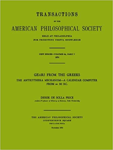 Gears from the Greeks: The Antikythera Mechanism, a Calendar