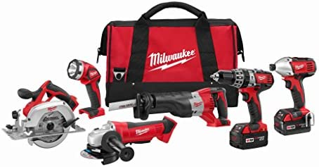 Milwaukee M18 Cordless LITHIUM-ION 6-Tool Combo Kit 2696-26