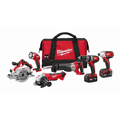 Milwaukee M18 Cordless LITHIUM-ION 6-Tool Combo Kit (2696-26)
