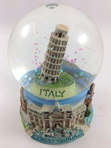 Vintage Snow Globe Water Art Glass Paper Weight 3D Resin Italy Souvenir Gift (Halloween Movie Snow Globe)
