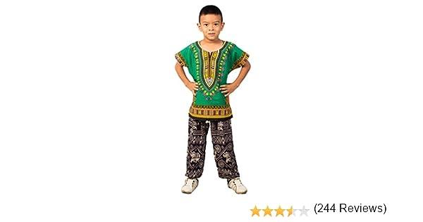Lofbaz Niños Tradicional de impresión de África Camisa Dashiki ...