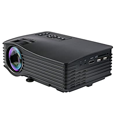 """DeepLee DP36 DP400 LED LCD Mini Projector, 120"""" Home Theater Video Projector with AV USB SD Card HDMI for Home Cinema Video Game Courtyard Movie Night support PC Laptop PS3/PS4 Xbox Wii Projector"""
