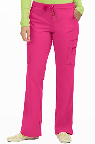 (Med Couture Women's 'Activate' Hi-Definition Cargo Scrub Pant, Pink Punch, X-Large Tall)