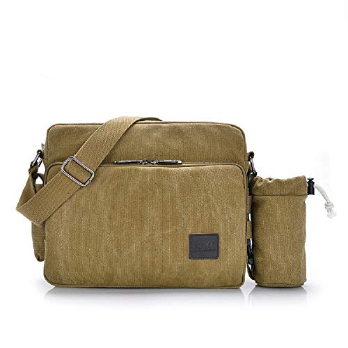 Messenger Men Large Bag Canvas Notebook Zhrui Waterproof Tank Bags Work Laptop Brown Shoulder Vintage Briefcase q4wxAt