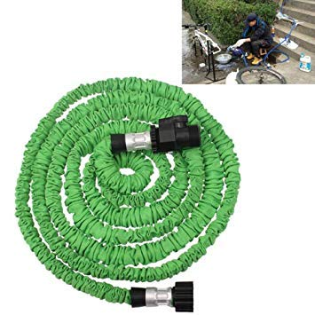 Uniqus Durable Flexible Dual-Layer Water Pipe Water Hose, Length  2.5m, US Standard(Green)