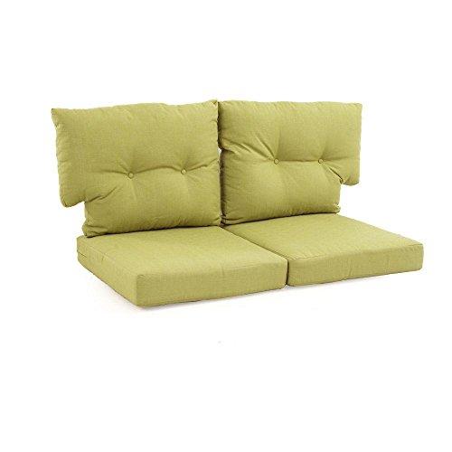 Martha Stewart Living Charlottetown Green Bean Replacement Outdoor Loveseat Cushion