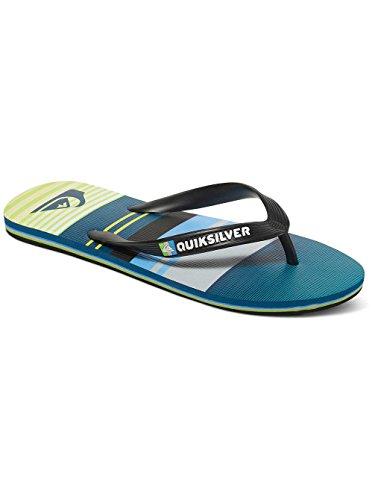 Quiksilver Molokai Everyday Stripe - Chancletas para Hombre, Color: BLACK/GREEN/GREY, Talla: 14(47)