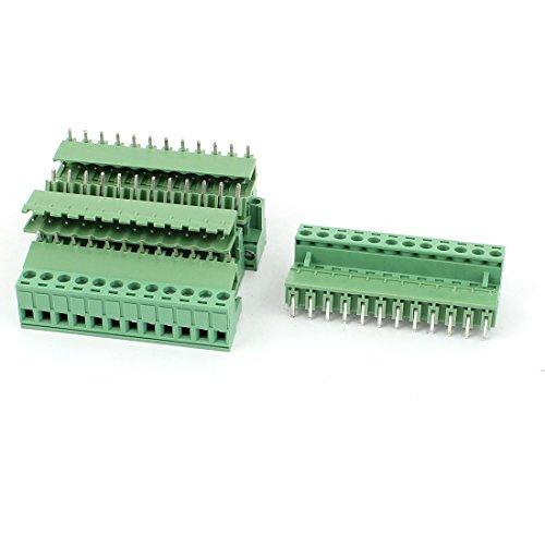 5Pair 300V 16A 12 Position 5,08 mâle + femelle PCB bornier à vis by eDealMax